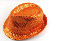 Wholesale Sequins Caps Fedora Style Man Women Colors New Arrvial C18