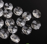 Wholesale 2000pcs FREESHIPPING mm octagon crystal beads crystal glass octagon beads transparent color in holes for crystal chandelier parts