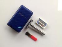 Wholesale 2014 NEW HIGH QUALITY MEN CLASSIC DOUBLE EDGE SHAVING SAFETY RAZOR BLADES SILVER