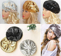 Wholesale Sequins Caps Berets Style Women Colors New Arrvial C20