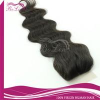 Brazilian Hair Natural Color Body Wave Top selling Natural Scalp color AAAAA Grade in Stock silk base top closure Body Wavy virgin Brazilian human hair closures 4x4 free shipping