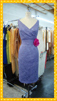 beach bodies photos - 2014 Short Lavender Lace V Neck Cheap Beach Bridesmaid Dresses with Fuchsia Flower Waist Multi Color Mini Sheath Body Hugging Party Gowns