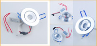 Wholesale 1W LED Ceiling Fixture Downlight Light Recessed Cabinet Complete Kits Lamp