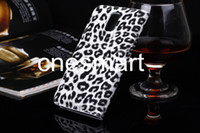 Leopard design PU leather Case Cover with card slot + stand f...