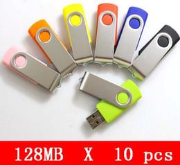Promotion oem flash usb 10pcs X 128mb en gros USB 2.0 HOT ventes lecteur flash de haute qualité! OEM service Brand New Genuine Capacital