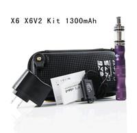 Electronic Cigarette Set Series mix colors  Newest ego X6 Electronic cigarette with X8 or X6 V2 Tank atomizer Clearomizer 1300mAh battery Vaporizer Voltage mix colors
