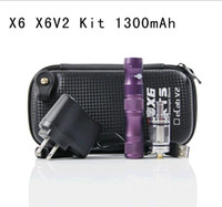 Electronic Cigarette Set Series mix colors  Newest ego X6 Electronic cigarette with X8 or X6 V2 Tank atomizer Clearomizer 1300mAh battery Vaporizer Voltage in stock