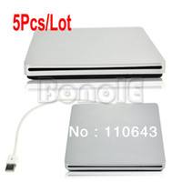 Wholesale 5Pcs External USB2 Optical Drive Case Enclosure For Apple Macbook mm SATA DVD RW Super Slim Slot in