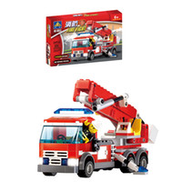 other   Eco-friendly plastic insert assembling building blocks series fire truck model of the preschool educational toys for child