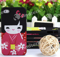 Wholesale Japanese dolly cute girl Design protective cover case for iPhone S S with retail package colorful DHL