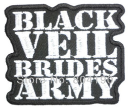 Wholesale BLACK VEIL BRIDES ARMY Music Band Iron On On Patch TRANSFER MOTIF APPLIQUE Rock Punk Badge