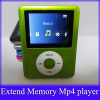 Wholesale 100pcs mp4 player with earphone charging cable retail box portable fm radio mp4 music player no memory black silver blue green pink