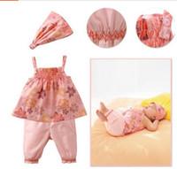 Girl Summer Sleeveless Summer Baby 3pcs Suit Headband + Shirt + Pants 0-3Year Toddler Girl Clothing Sets Small Babies Wear 80-90-100 Random Size