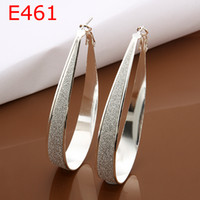 big earrings - 2014 New coming steling silver Big Circle drop earings E479 silver earrings silver fashion jewelry