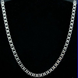 Fine 316L Stainless steel 1.5mm Box Chain Necklace