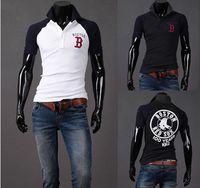 Polo assorted tees - Hot Sale Fashion Korea Men s Slim Fashion assorted colors round neck Long sleeve POLO T shirts shirt