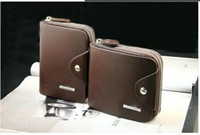Wholesale Paragraphs man purse male zipper cowhide short