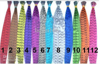 Wholesale HOT SUNNY Inch Synthetic Grizzly Rooster Feather Hair Extension Feathers beads nchdf