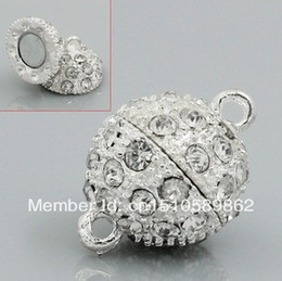 Free shipp!14MM fashion Crystal Magnetic Clasps Jewelry accessories