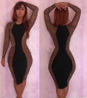 Hot Women's Leopard Bodycon Dresses Black Fantasy Party Fash...