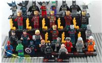 Wholesale Action Figures Building Blocks toys Star wars Super Heroes Mini Superman Spider Man Batman Iron Man Toys