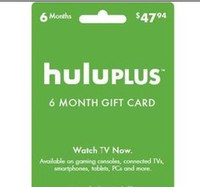 Wholesale Hulu Plus month month USA Gift Subscription Gift Card send code Only by DHgate message NO Delivery card