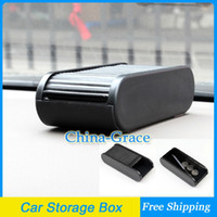 Cheap Car Storage Box Plastic Pocket Telescopic Dash Coins Case Holder Container Free Shipping