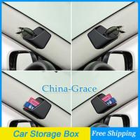 Pocket Holder Plastic  1Pair Mini Car Pillar Storage Box For Cell Phone Glasses Convenient Pocket Holder Free Shipping