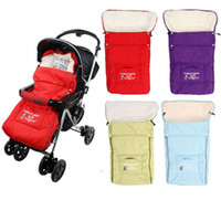 Cheap Toddler Sleeping Bags For Stroller Warm Winter Sleepsacks Baby Blanket Thicken fleece envelope for newborn red purple color