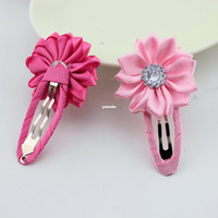 Wholesale Korean hair accessories small sunflowers around the ribbon barrette clip edge clip polygon spend BB