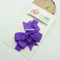 Hair Sticks ribbons and bows - Children ribbon ribbon bow ribbon fishtail headband baby children s jewelry in Europe and America