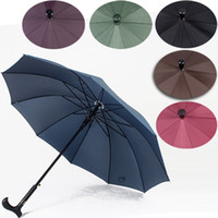 Cheap Solid long-handled walking stick umbrella umbrella reinforcement to give them a cane umbrella gift umbrella sun umbrella wind sunny umbrella