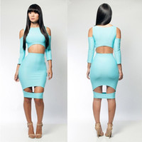 Wholesale Cheap Sexy Club Bodycon Dresses New Elastic Spandex Bandage Dress Women Ladies hollow out Evening Dress
