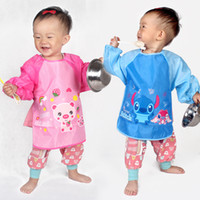 Wholesale Anti dressing gowns baby clothes infant children eat paint smock aprons clothing protective clothing waterproof gowns shipping antifouling