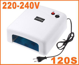Wholesale Better Material W V Gel Curing Nail Art UV Lamp EU Plug with W nm Bulb H4279 Dropshipping
