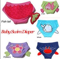 Wholesale Baby Swim Diaper Unisex Training Pant Cute Cartoon Toddler Swimming Nappies Summer Swimwear Board Short Trunks Size S M L