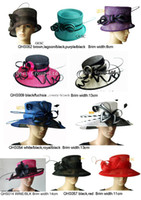 Wholesale NEW fashion sinamay hat sell in different style and colors ideal for church wedding races party kentucky derby ascot