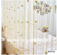 Wholesale cmX280cm Rose flower String curtain string panel fringe panel room divider wedding drapery