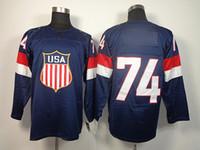 Ice Hockey Men Full USA 2014 Winter Olympics Hockey Jerseys Team USA #74 Oshie Hockey Jerseys Navy Blue Hockey Wears New Arrival Olympic Jerseys Hot Sale