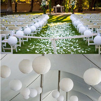 Wholesale 48pcs White quot Chinese Paper Lanterns Wedding Party Floral Home Decoration
