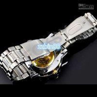 Wholesale Golden mechanical watch men s luxury wirst watch alloy belt automatic watches
