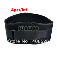 Cheap 4pcs lot nylon Weight Lifting Belt Gym Back Support Power Training Work Exercise Fitness Strap Lumber 90cm TK0840