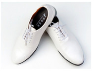 Wholesale NEW British Men s wedding shoes Groom leather shoes Color white and black Shoes Prom shoes Work shoes Dress shoes NX11