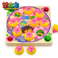 Wholesale candice guo Hot sale Dora memory game box educational wooden toy baby early learning pc