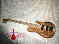 Wholesale Custom Strings Electric Bass Guitar one piece wood NEW very nice Electric BASS OEM Guitar High power electronic amplification