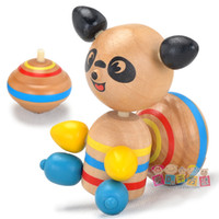 Wholesale Child Best Love Wooden Spinning Top Squirrel Top Solid Wood Gyroscope Sports Toy Moving