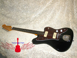 Wholesale Custom Shop Black MUSTANG Electric Guitar With tremolo system beautiful custom guitars from china