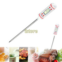 Wholesale New White Digital Thermometer Cooking Food Probe Meat Thermometer Kitchen BBQ