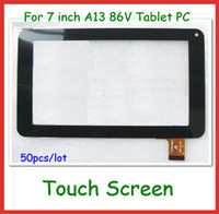 for Allwinner A13  Tablet PC tablet replacement screen - 50pcs via DHL Replacement inch Capacitive Touch Screen with Glass Digitizer for inch V Y7Y007 GT70PW86V CZY6964A01 fpc Tablet PC