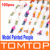 Wholesale HO Scale Mix Painted Model Train Park Street Passenger People Figures